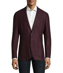 buttoned wool blazer