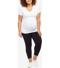 motherhood maternity plus size essential crop leggings