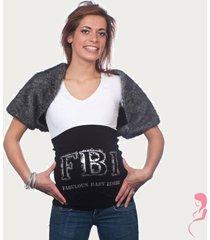 op en top zwanger zwangerschaps buikband fbi zilver