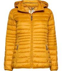 jackets outdoor woven gevoerde lange jas geel esprit casual