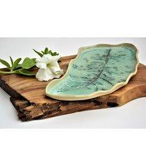 liść ceramiczny patera talerz dekoracyjny