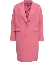 cappotto in simil lana modello a uovo (rosa) - rainbow