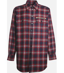 dolce & gabbana wool shirt with all-over patchwork