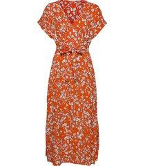 dresses knitted knälång klänning orange esprit casual
