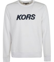 michael kors logo embroidered sweatshirt