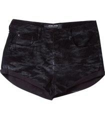 shorts john john boy teresina sarja preto feminino (preto, 50)