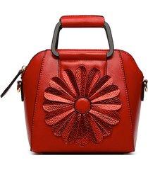 crossbody donna in ecopelle fiore multi-carry borsa