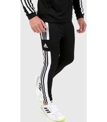 pantalón negro-blanco adidas performance squadra 21