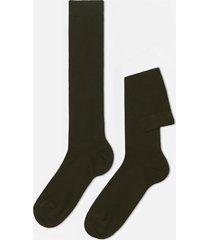 calzedonia tall warm cotton socks man green size 42-43