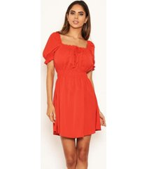 ax paris women's milkmaid neck frill dress