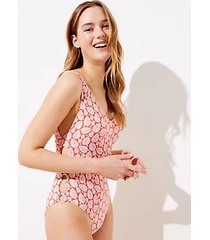 loft beach palm ring one piece swimsuit