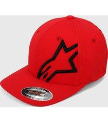 gorra rojo-negro alpinestars corp shift curved