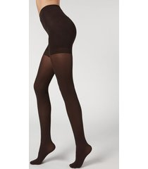 calzedonia 50 denier total shaper tights woman brown size 4