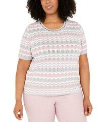 alfred dunner plus size primrose garden sweater