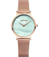reloj classic mesh oro rosa bering bering