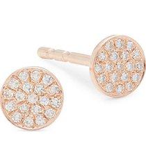 14k rose gold & 0.07 tcw diamond stud earrings