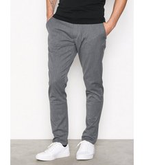tailored originals pants -tofrederic byxor medium grey melange