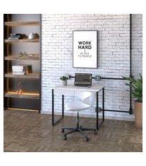mesa de escritório kuadra 2 gv bege 90 cm