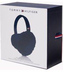 tommy hilfiger women's wireless earmuff headphones blue -