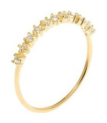 anel feminino strelitzia topázio em ouro