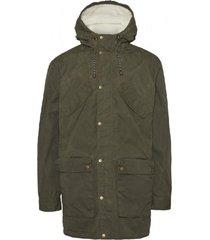 waxed green jacket coat