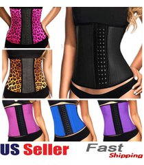 2015 new women latex rubber waist training body shaper cincher underbust corset