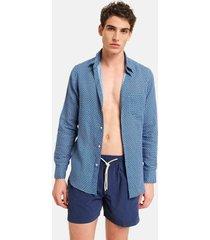 peninsula swimwear shirt cala luna linen