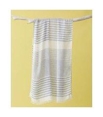 lenço listrado - lenço harlem cor: azul - tamanho: único