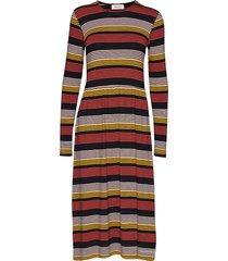 ross stripe dress maxi dress galajurk multi/patroon modström