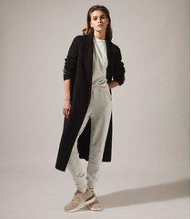 reiss piper - brushed loungewear sweatshirt in grey, womens, size l