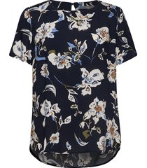 byilena blouse 2 - blouses short-sleeved blå b.young