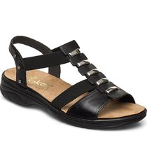 64580-00 shoes summer shoes flat sandals svart rieker