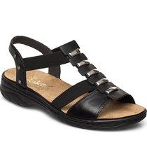64580-00 shoes summer shoes flat sandals svart rieker