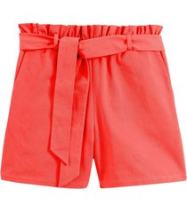 shorts i ren bomull, med knytskärp