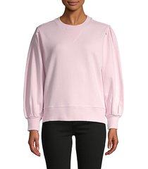 balloon-sleeve cotton sweatshirt