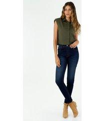 jean para mujer topmark, jeans tiro alto plano cintura con pretina