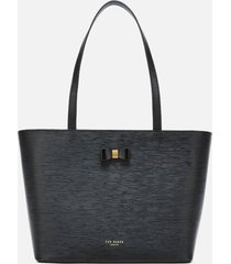 ted baker women's deannah bow detail shopper bag - black