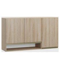 armário triplo c/ nicho aveiro be mobiliário bege