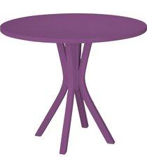 mesa de madeira redonda de madeira felice 410 roxo - maxima