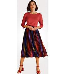 plisserad kjol mona flerfärgad