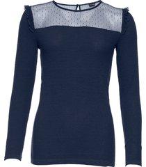 maglione con mesh (blu) - bodyflirt