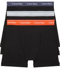 men's calvin klein 3-pack boxer briefs, size small - black
