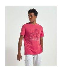 camiseta manga curta com estampa | marfinno | vermelho | g