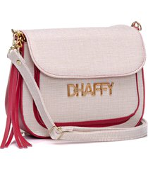 bolsa dhaffy bolsas palha com bolso vermelho