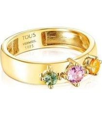 anillo en plata mujer 18145531 dorado