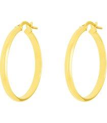 orecchini a cerchio in oro giallo mezzo tondo 25 mm per donna