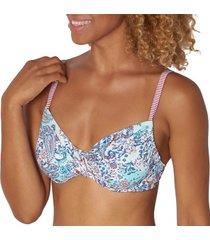 triumph riad paisley underwire bikini bra * gratis verzending *
