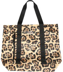 lacoste shopper bag with animal print
