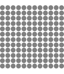 adesivo de parede bolinhas prata 144un - prata - dafiti