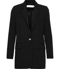 ailaiw zella long blazer blazers over d blazers svart inwear
